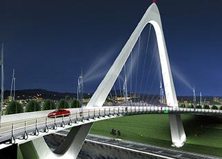 Vehicular Bridge At Puteri Harbour, Nusajaya,  Johor Bahru, Johor Darul Takzim