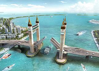Drawbridge – Muara South & Muara North, Kuala Terengganu, Malaysia
